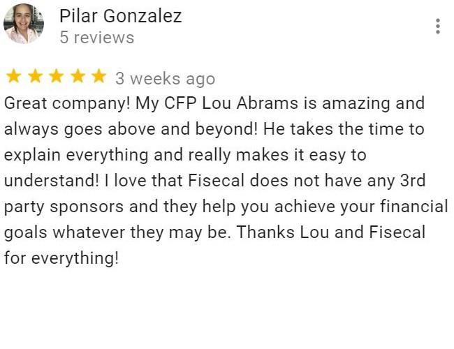 Pilar Gonzalez's review on Fisecal